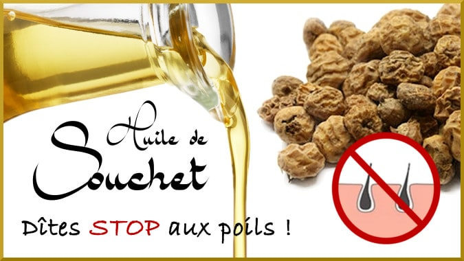 L'huile de souchet, anti-repousse poils efficace
